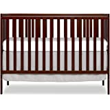 Dream On Me Synergy 5-in-1 Convertible Crib in Espresso, Greenguard Gold Certified