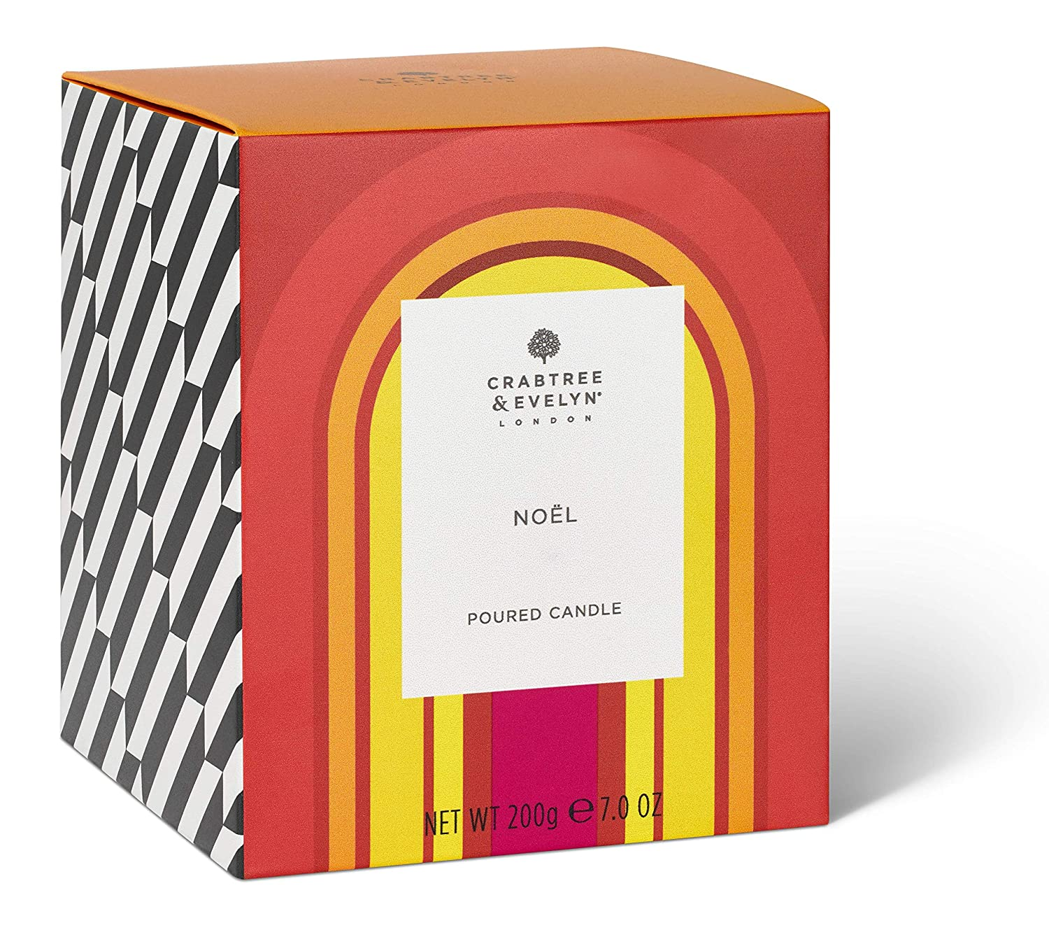 Crabtree & Evelyn Noel Poured Candle with Mulled Spice and Fir Spruce Notes, Large, 200 g 8456