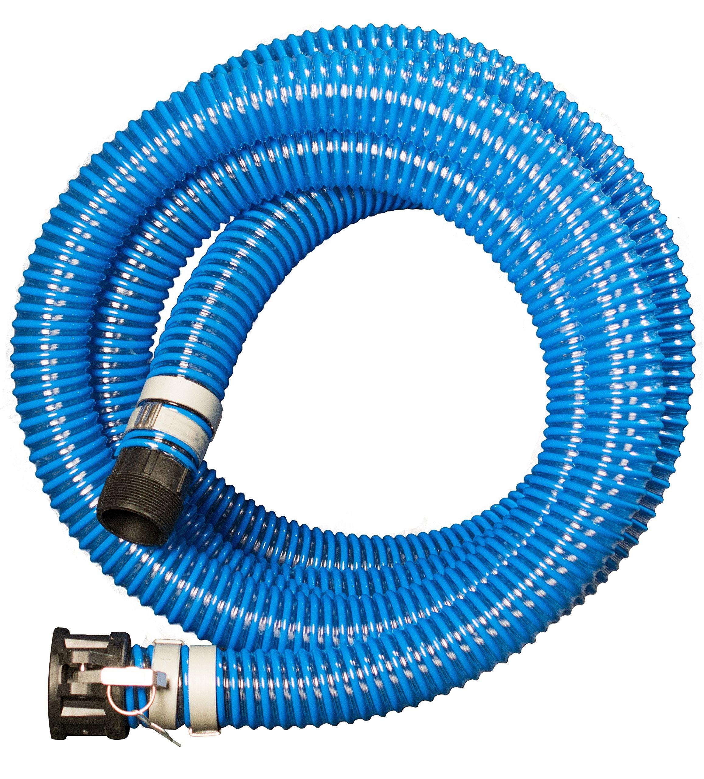 Apache 98106503 PVC Suction Poly CX King Nipple Hose, 40 psi, 2'' Inside Diameter, Blue