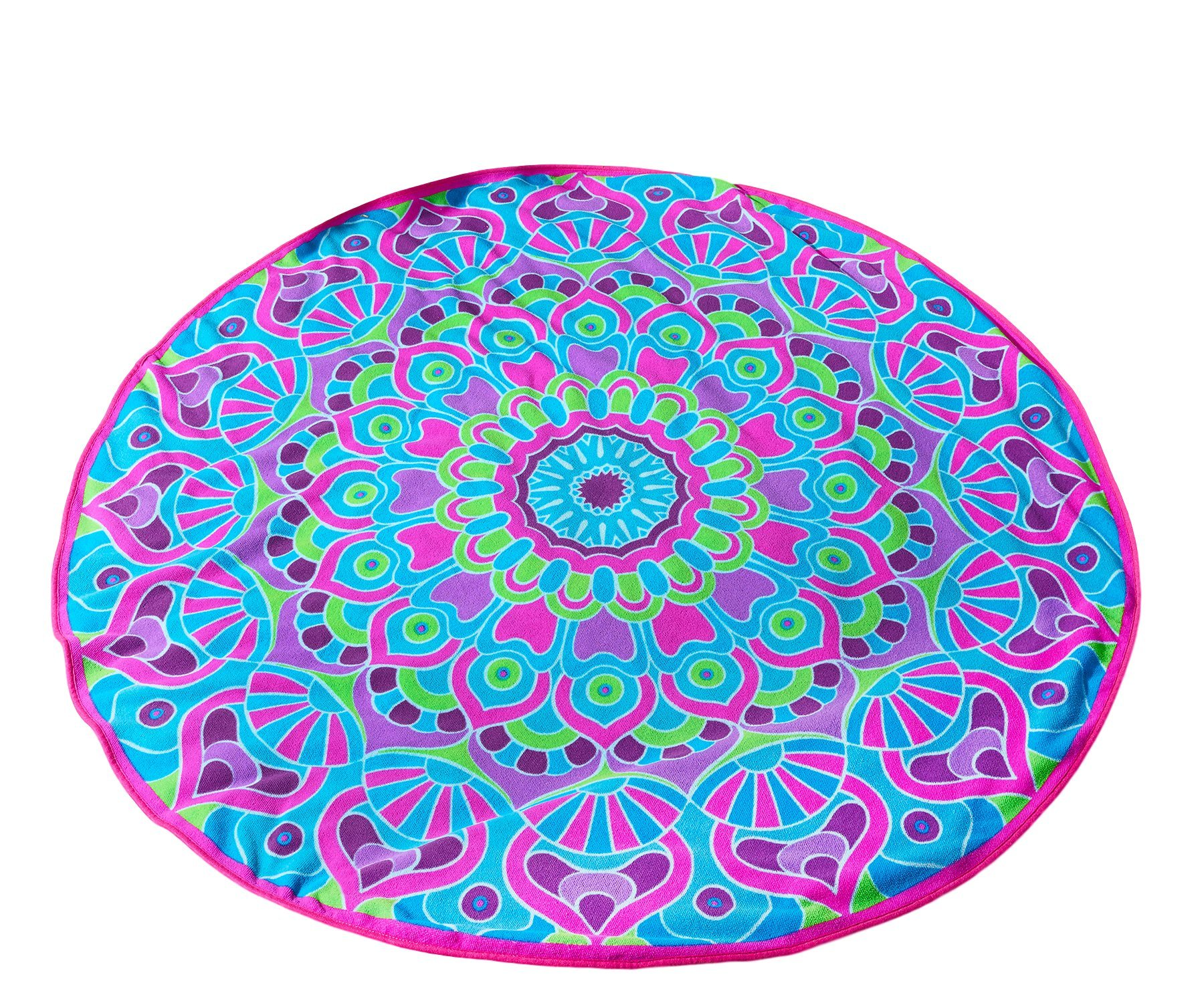 Giftcraft Tranquility Design Round Beach Towel 59 (Purple)