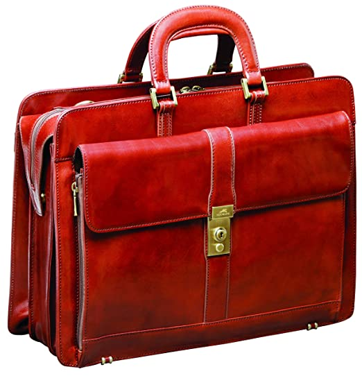 93a9bacfd4d3 Mancini Leather Goods Luxurious Italian Leather Laptop Briefcase