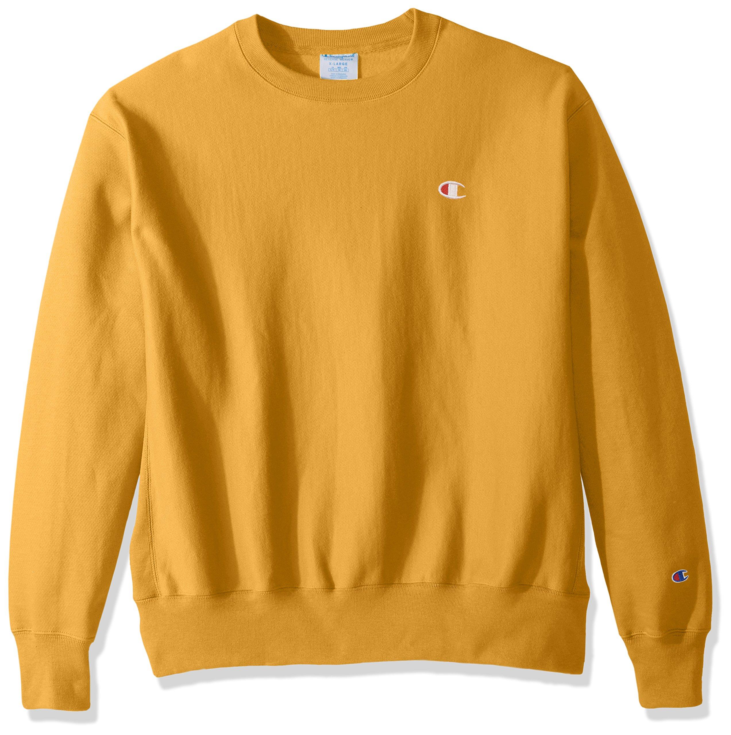 Champion LIFE Men's Reverse Weave Sweatshirt,C Gold/Left Chest ''C'' Logo,X SMALL by Champion LIFE