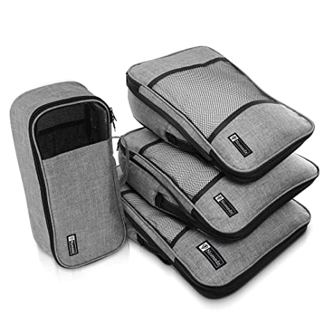 Compression Packing Cubes Travel Luggage Organizer Set Packs More In Less Space by Nomadz