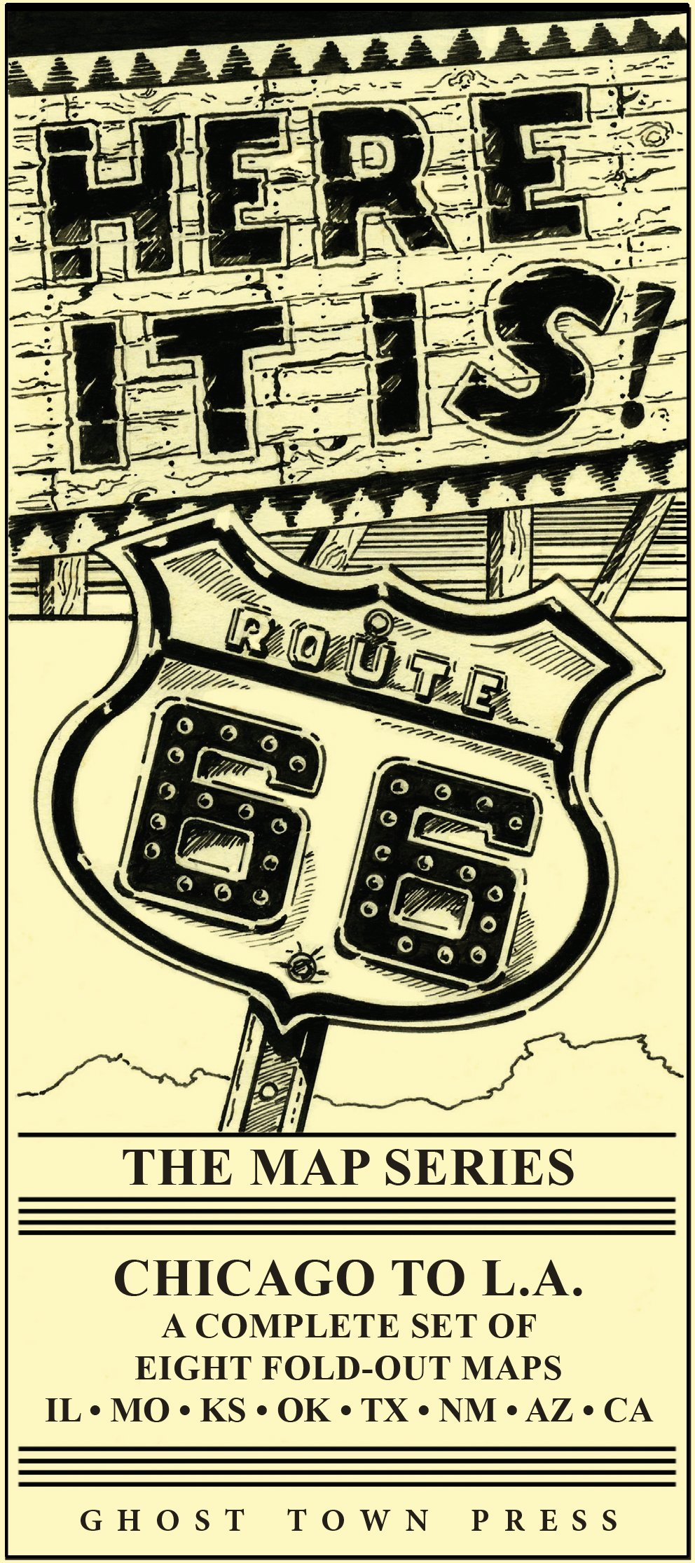 Map Of California Route 66.Here It Is The Route 66 Map Series Jim Ross And Jerry Mcclanahan