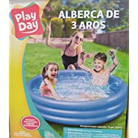 Play Day 51026 Alberca Piscina 3 Aros Inflable 1.65 m x 30 cm Color Azul