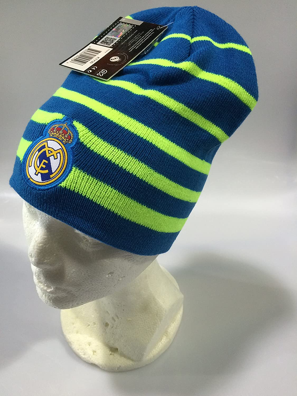 Amazon.com : Real Madrid FC Blue/Neon Winter Beanie (OSFM) : Sports & Outdoors