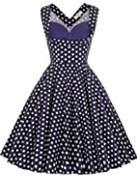 Grace Karin Women's Vintage 1950's Floral Cut Out Casual Party Dresses