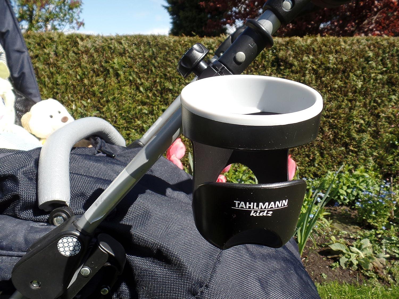 TAHLMANN Flaschenhalter Getr/änkehalter Becherhalter f/ür Kinderwagen Buggy universal geeignet f/ür Nuckelflaschen Dosen Becher