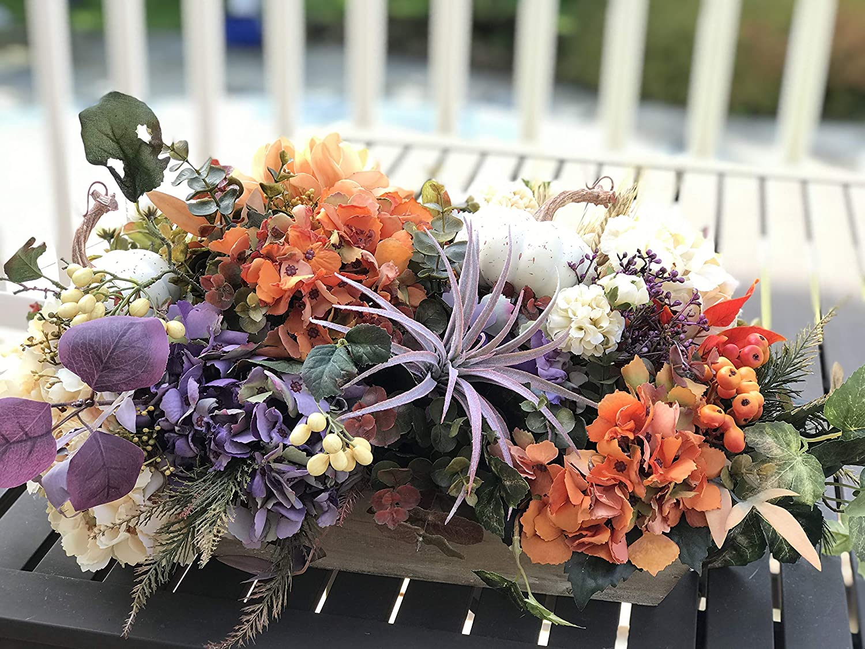 Amazon Com Hydrangea Autumn Floral Center Piece Fall Flower Arrangement Centerpiece Designed By Mommykimstyle Handmade