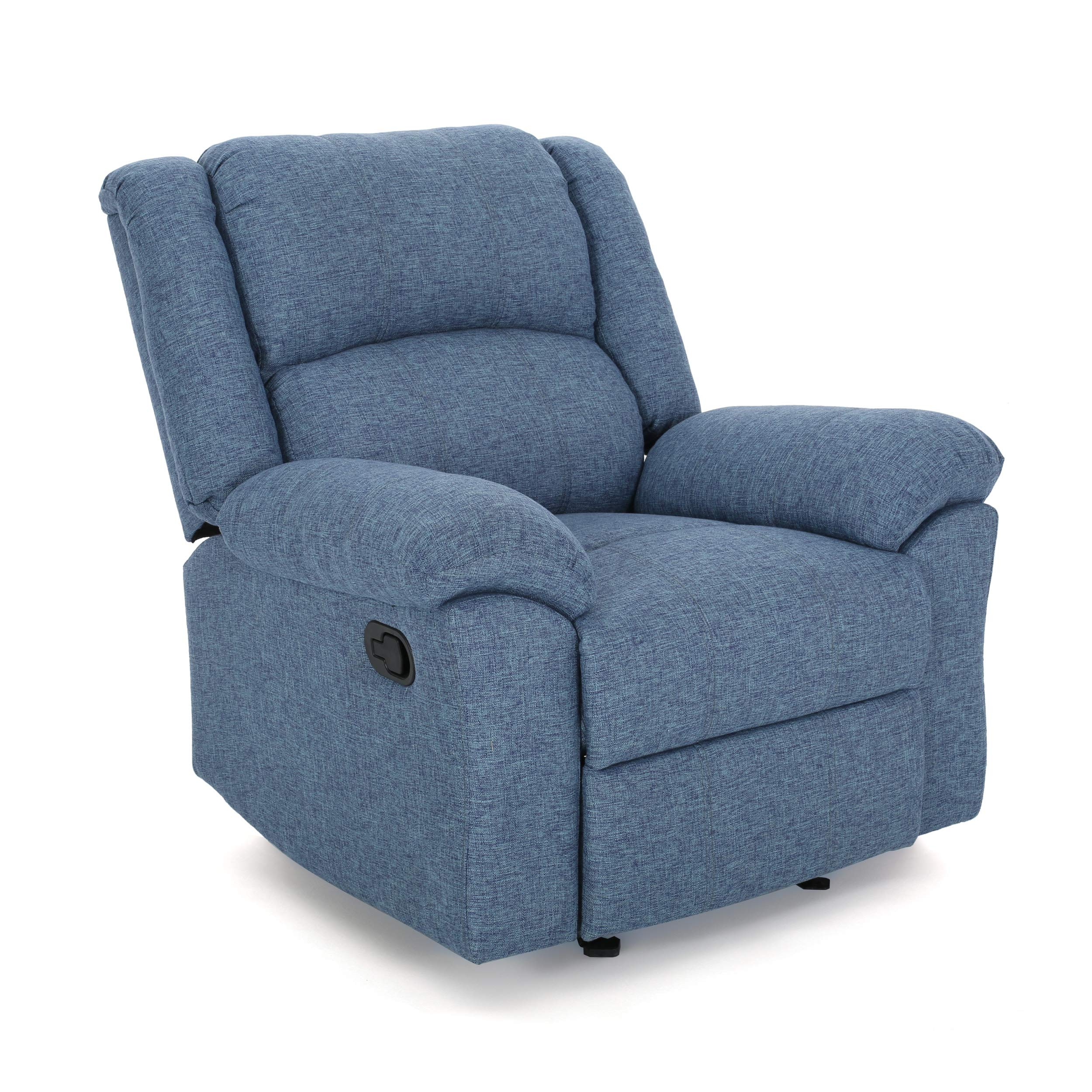 Christopher Knight Home 307575 Nora Glider Recliner, Navy Blue Tweed + Black by Christopher Knight Home
