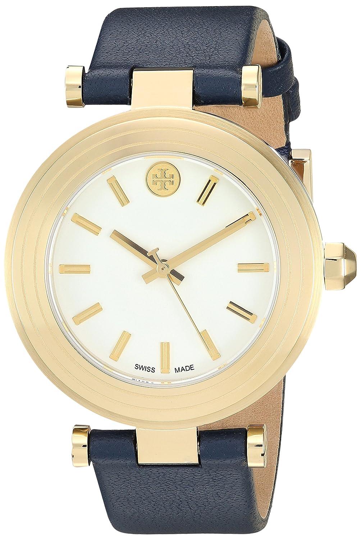 7257ba1de Amazon.com: Tory Burch Women's Classic T - TB9001 Navy Leather One Size:  Watches