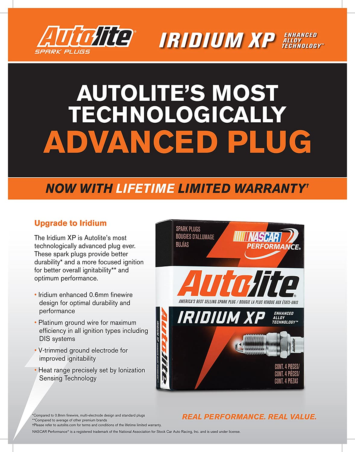 Autolite XP5701 Iridium XP Spark Plug Pack of 1