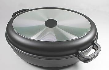 Cocotte ovale en fonte d aluminium marmite   env. 8 l avec couvercle grill dde94ff8a378