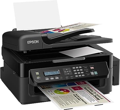 Epson L555 EcoTank - Impresora multifunción de Tinta (b/n 33 ppm, Color 15 ppm, WiFi, USB), Negro (Importado)