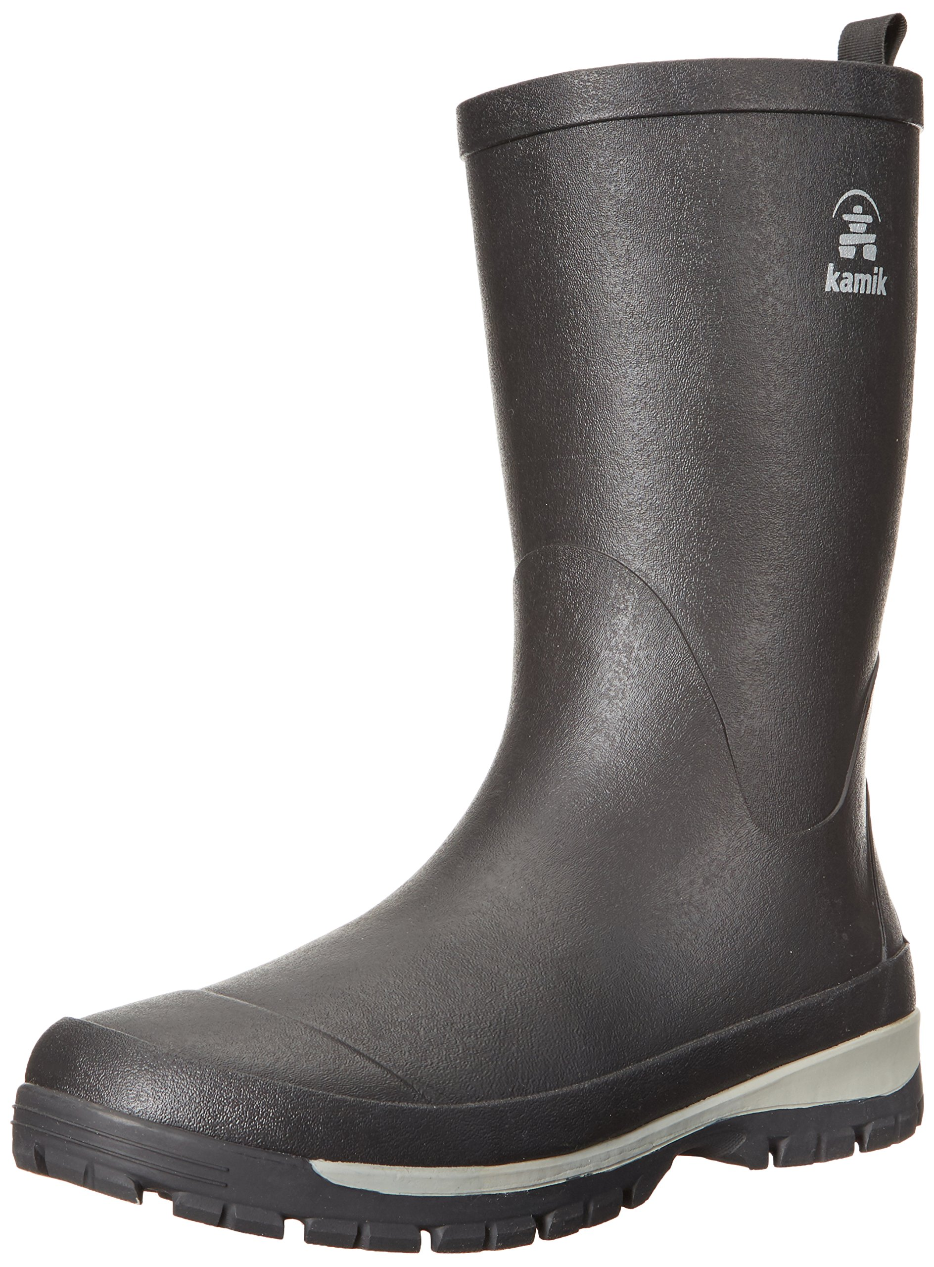 17a42402d9067 Kamik Men's Lars Rain Boot, Black, 9 Medium US | Amazon
