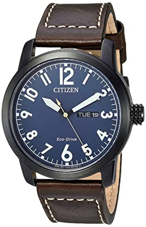 f78842d06 Amazon.com: Citizen Men's Eco-Drive Stainless Steel Quartz Leather Calfskin  Strap, Brown Casual Watch (Model: BM8478-01L): Watches