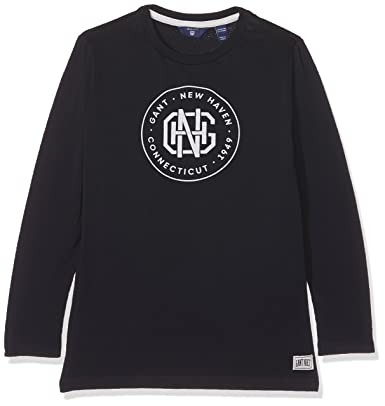 a5ca68e64e0d Gant Boy Haven Long Sleeve T-Shirt Top, (Evening Blue), 7-8 Years (Size:  122/128): Amazon.co.uk: Clothing