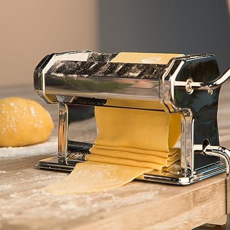 Compra Levivo Máquina para Hacer Pasta Fresca - Máquina de Fideos Manual de Acero Inoxidable con Rodillos Incluidos - Máquina de Pasta para preparar Lasaña y Más en Amazon.es