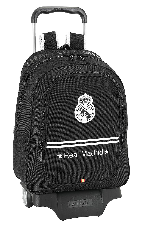 Real Madrid - Mochila Carro Grande, 33 x 43 cm, Color Negro ...