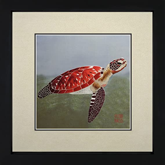 Amazon Com King Silk Art 100 Handmade Embroidery Mixed Group Red Turtle In Blue Water Chinese Print Framed Wildlife Animal Painting Gift Oriental Asian Wall Art Decoration Artwork Hanging Picture Gallery 34167wfb2 Posters