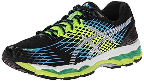 ASICS Men's Gel-Nimbus 17 Running Shoe,Onyx/White/Flash Yellow,8.5 M US