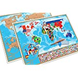 Scratch Off World Map Poster - With Detailed US States and Europe Map   Our World Scratch Off Map Is A Perfect Gift For Travelers   A Display Of Your Adventures And Travels