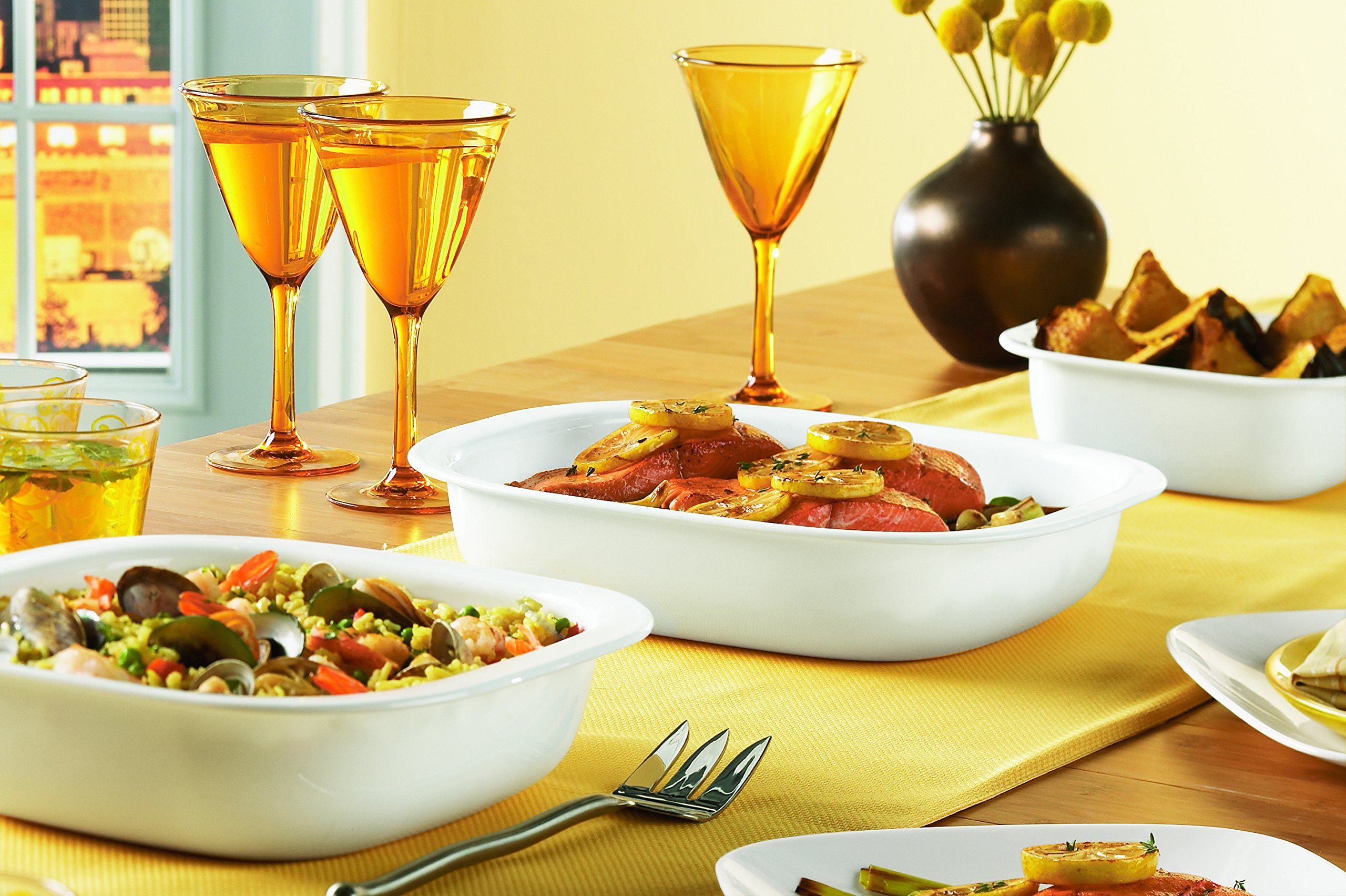 CorningWare SimplyLite 3-Quart Oblong Baking Dish with Plastic Lid by CorningWare (Image #2)