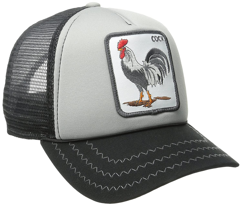Goorin Bros. Men s Animal Farm Trucker Black Gray Rooster Hat With ... df623d73179