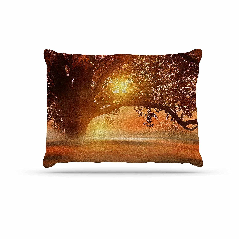 KESS InHouse Viviana Gonzalez Romance in Autumn orange gold Dog Bed, 50  x 40