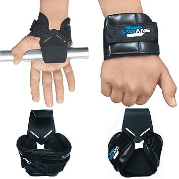 SAWANS Ganchos de levantamiento de pesas, agarre inverso, entrenamiento, correas de gimnasio, guantes, muñequera, barra de apoyo: Amazon.es: Deportes y aire ...