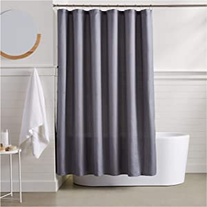AmazonBasics Linen Style Shower Curtain - 72 Inch, Grey