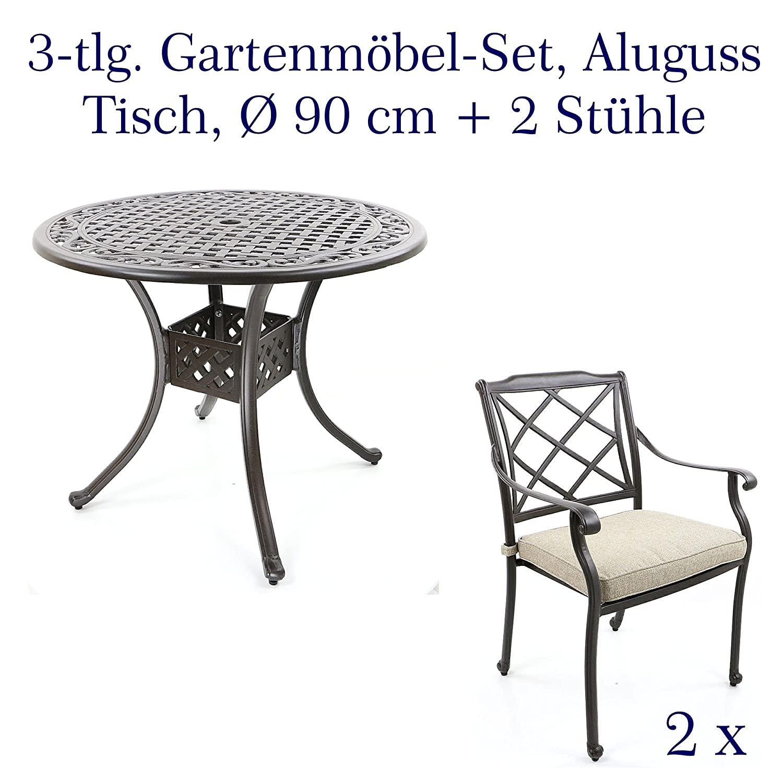 Amazon.de: Aluguss Gartenmöbel Set, Gartenmöbelgarnitur bestehend ...