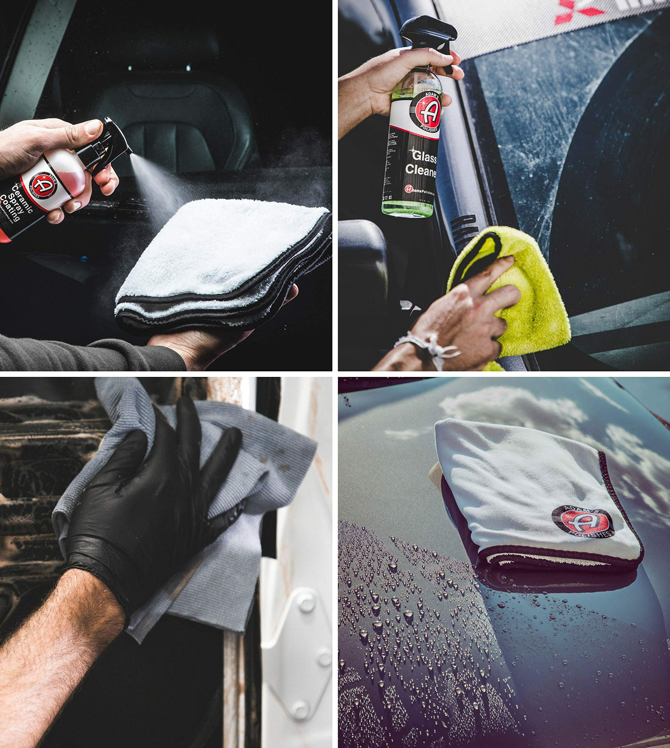 Adam's Essential Towel Bundle - The Best Collection of Car Cleaning, Washing, Drying & Detailing Microfiber Cloths - Wax, Polish, Wash & Dry Your Vehicle with Adam's Soft Car Towels by Adam's Polishes (Image #3)
