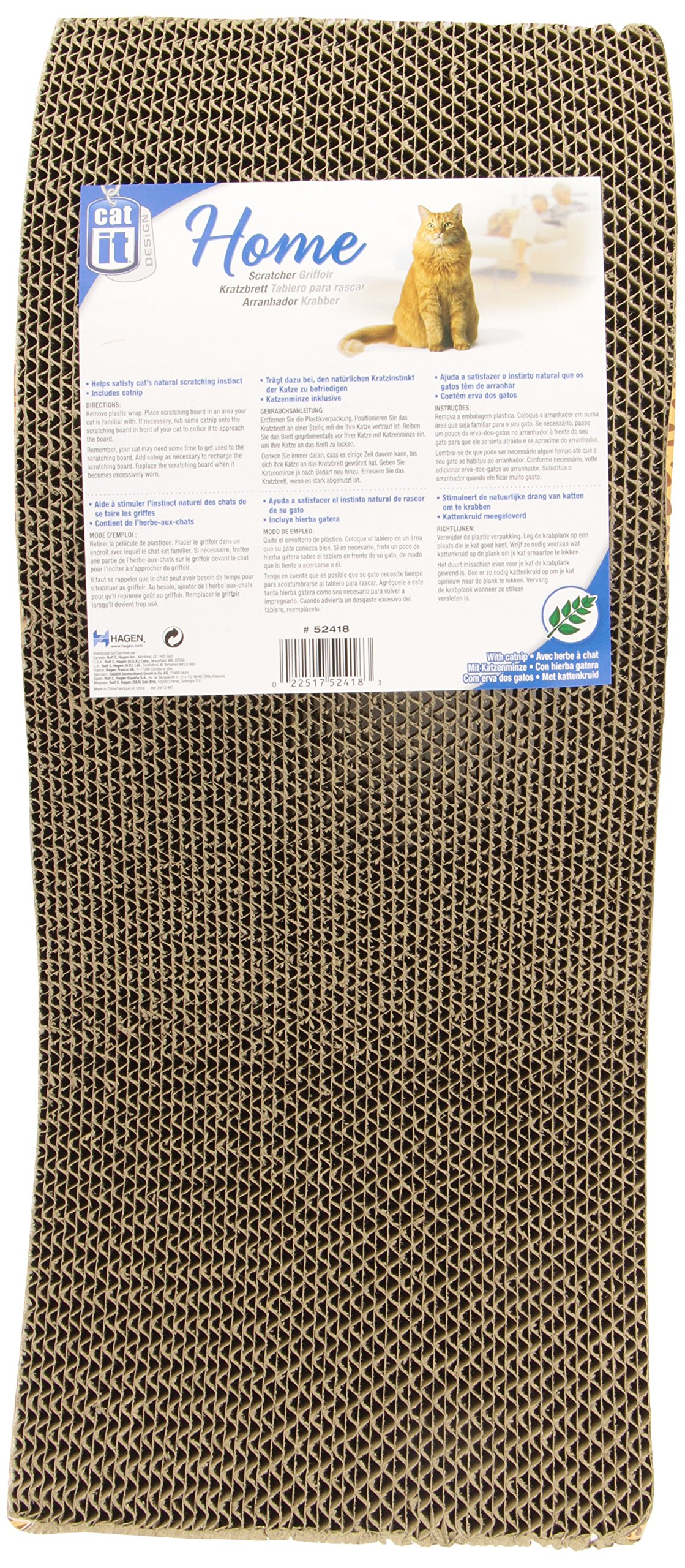 Catit Style Scratcher with Catnip, Animal Print S-Chaise