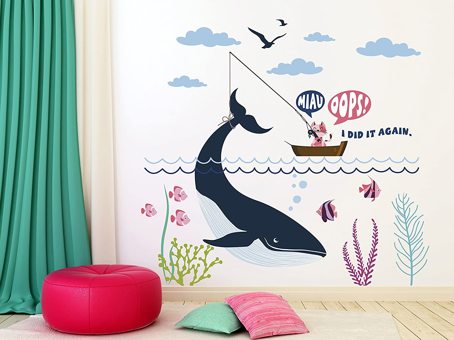 e-graphicデザインInc猫鳥Seaweeds Wide Waves and Marine 23