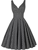PAUL JONES Grace Karin Women V-Neck Vintage Dress 50s Swing Tea Dresses CL6295