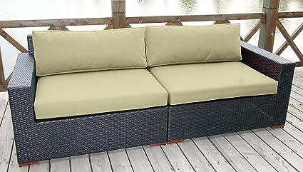 Amazon.com: BHG cibo sofá featuring Sunbrella tela, lona ...
