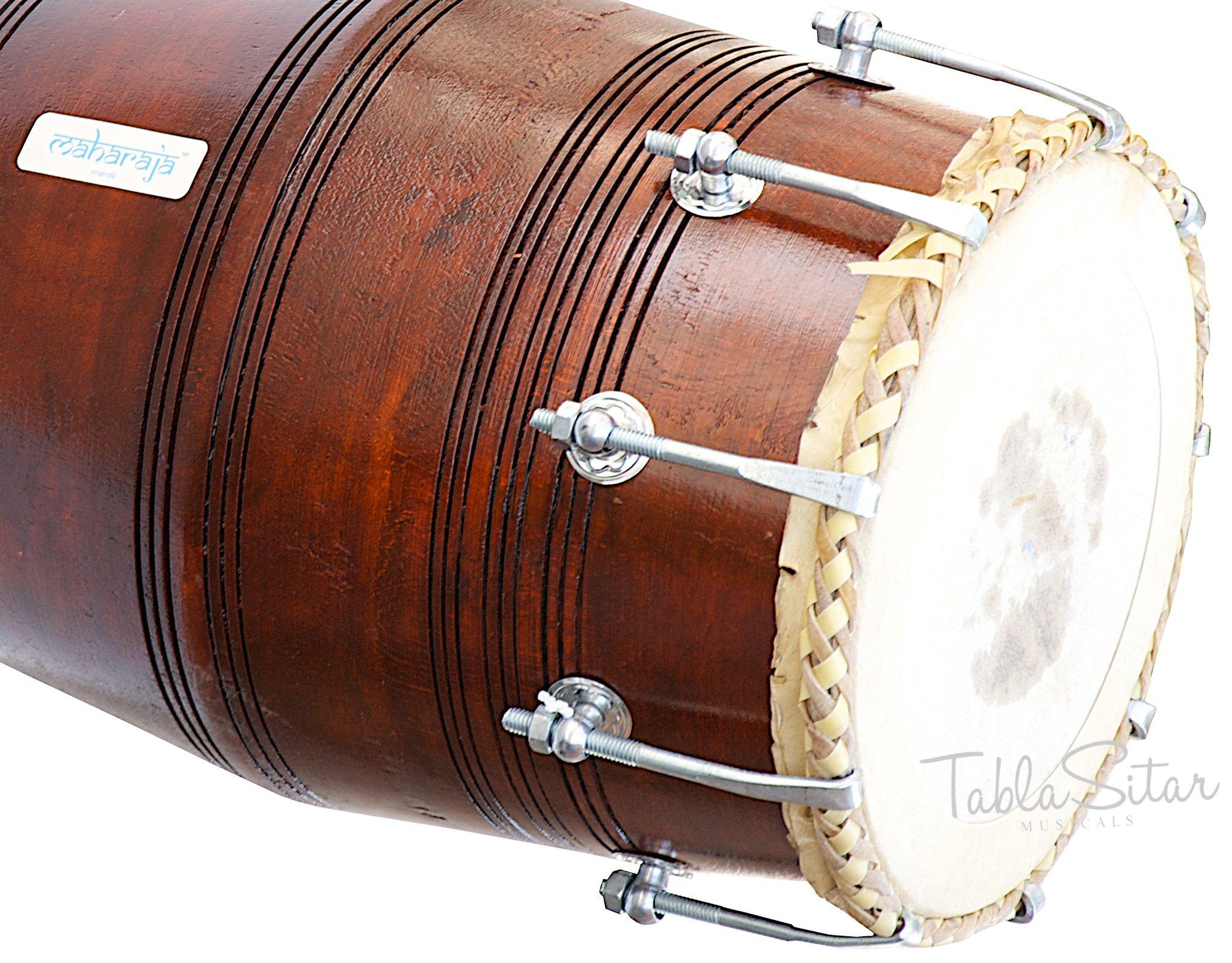 Mahraja Musicals Dholak (Dholki), Special Gajra, Mango Wood, Bolt-tuned, Padded Bag, Spanner, Dholak Drum(PDI-BGA) by Maharaja Musicals (Image #7)
