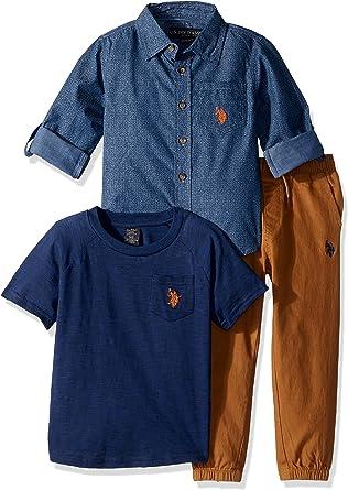 U.S. Polo Assn. Niños Juego de Pantalones - Multi - 24 Meses ...