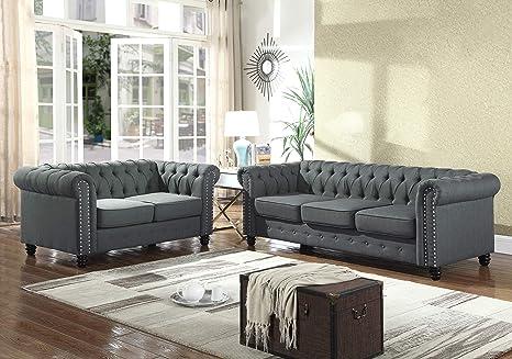Amazon.com: Best Master Furniture YS001 Venice 2 Piece Upholstered ...