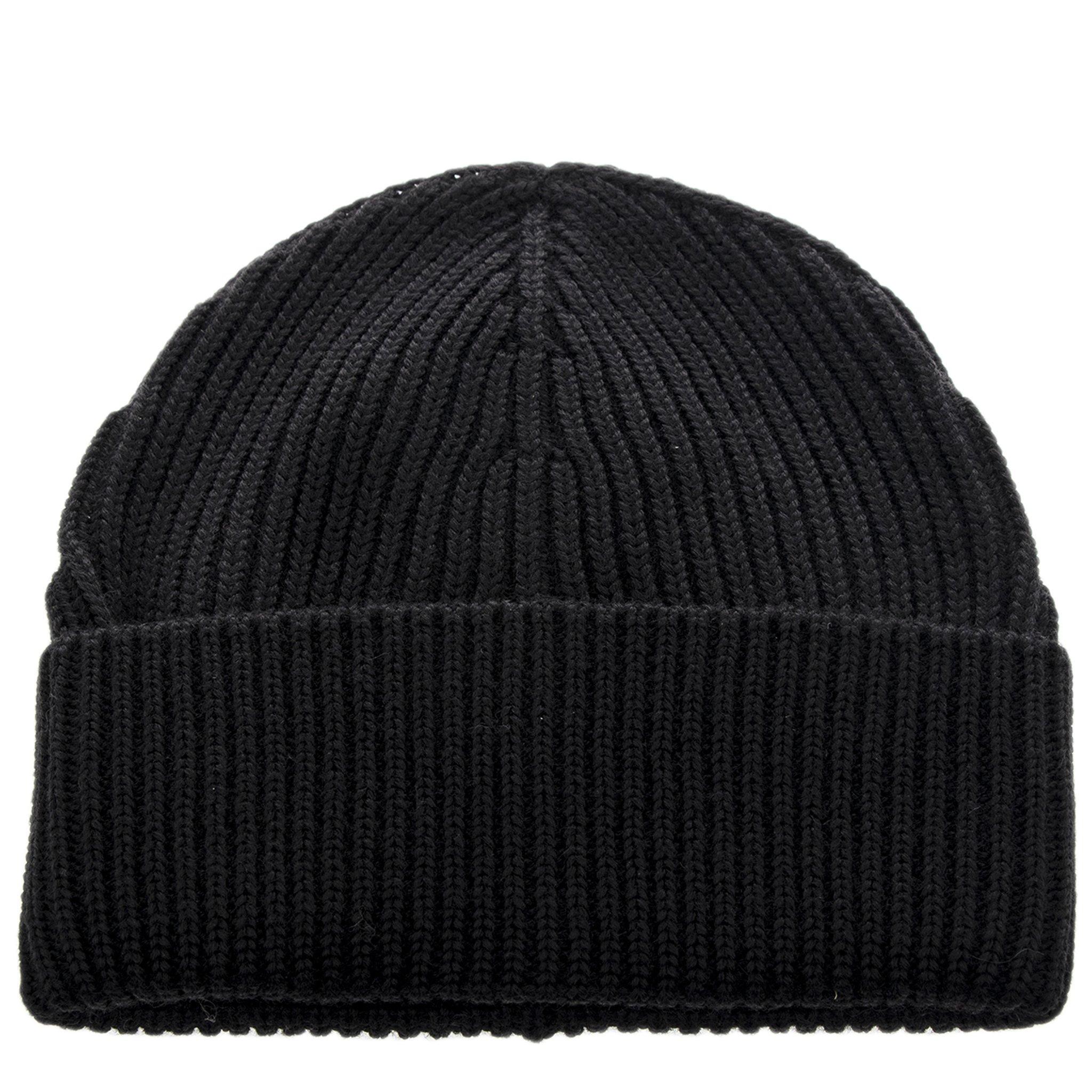 Maison Margiela Unisex Knit Beanie Size Medium Black