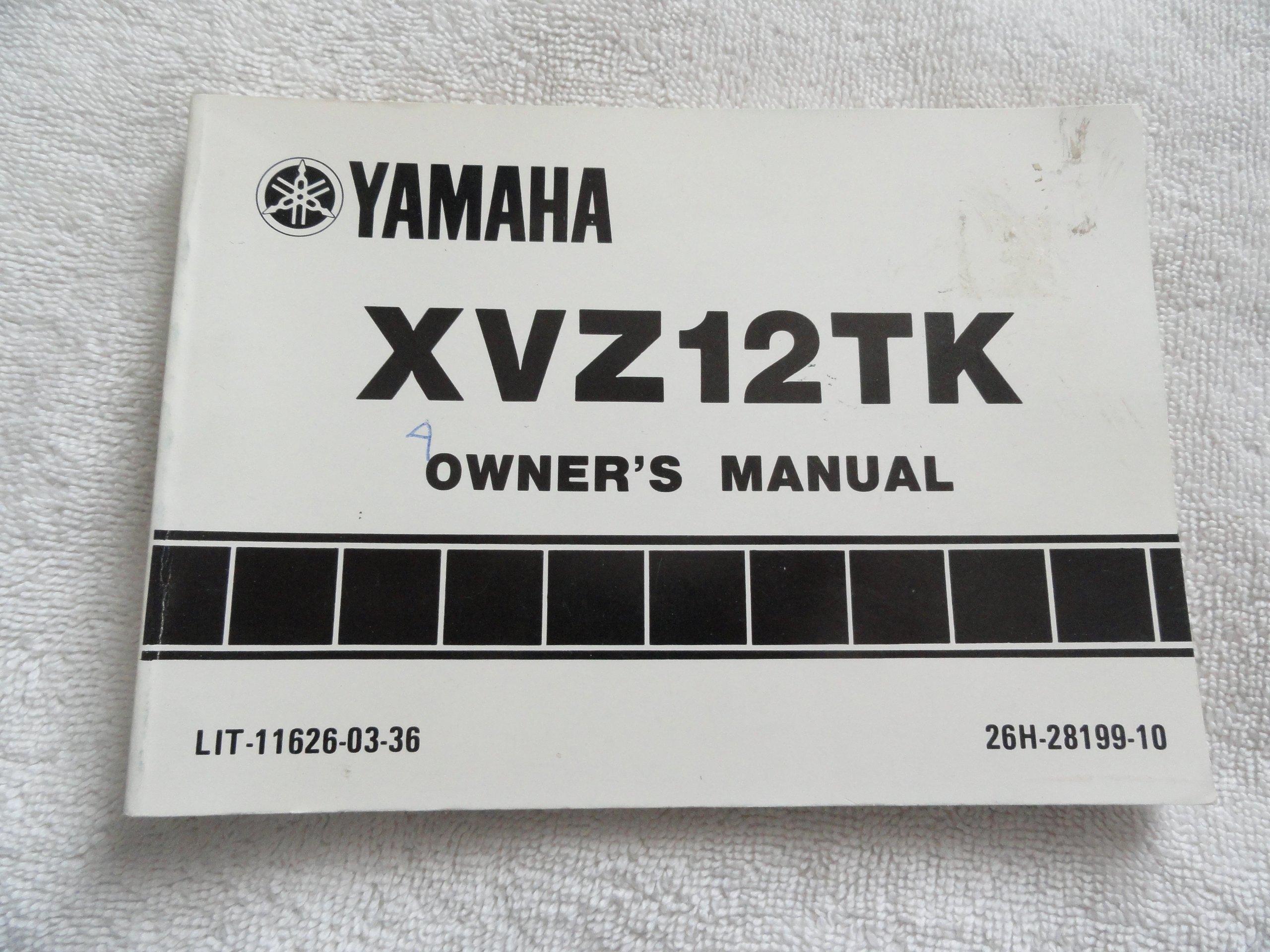 Yamaha Xvz12 Owners Manual Xvz13dt Igniton Fuse Box Holder Owner 11 8 Mb Array 1982 1983 Xvz12tk Xvz 12 Tk Amazon Com Rh