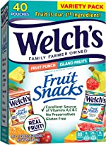 Welch's Fruit Snacks, Fruit Punch & Island Fruits Variety Pack, Gluten
