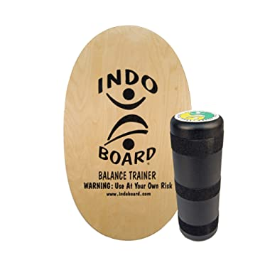 INDO BOARD Original Balance Board for Fun, Challenging Fitness. Comes with 30  X 18  Non-Slip Deck, 6.5  Roller and 11 Color Choices
