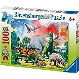 Ravensburger Puzzle enfant - Au Milieu Des Dinosaures - 100 Pièces