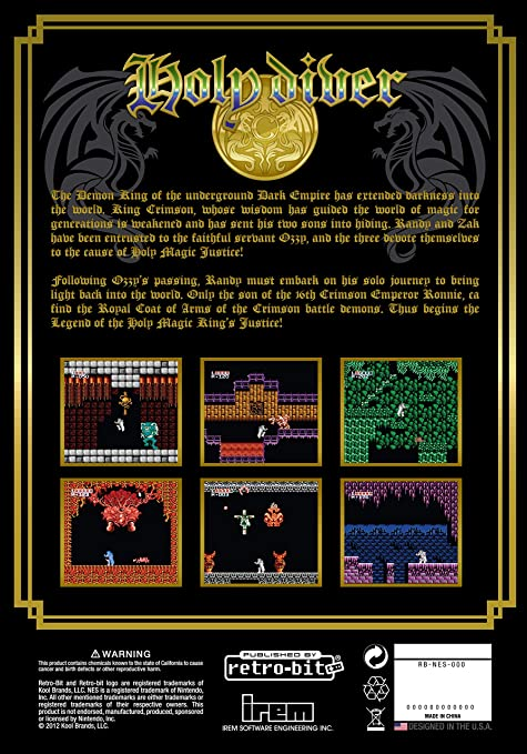 Retro-Bit Holy Diver - Collectors Edition Black NES ...