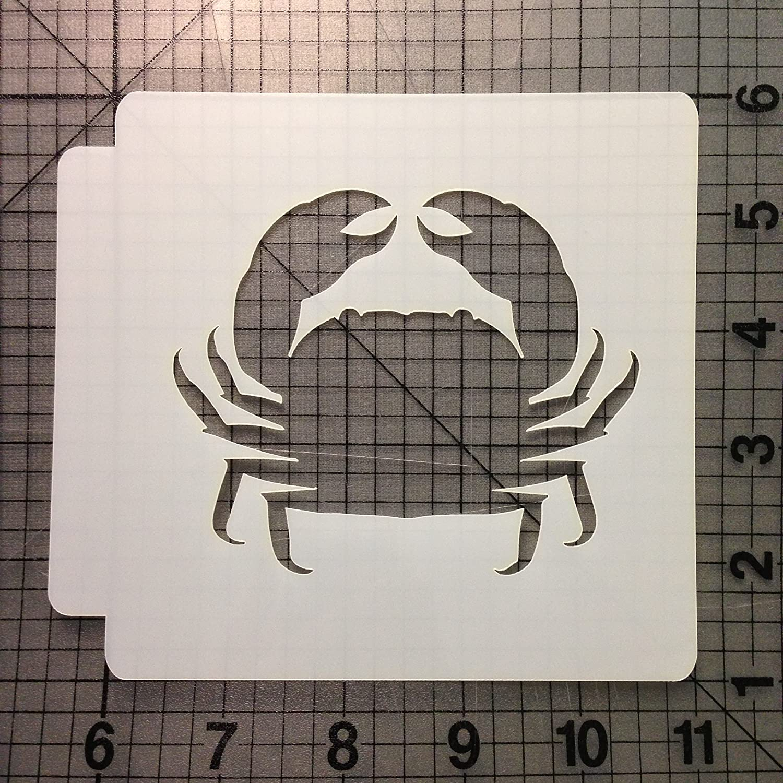 Crab Stencil 101 (1 Inches)