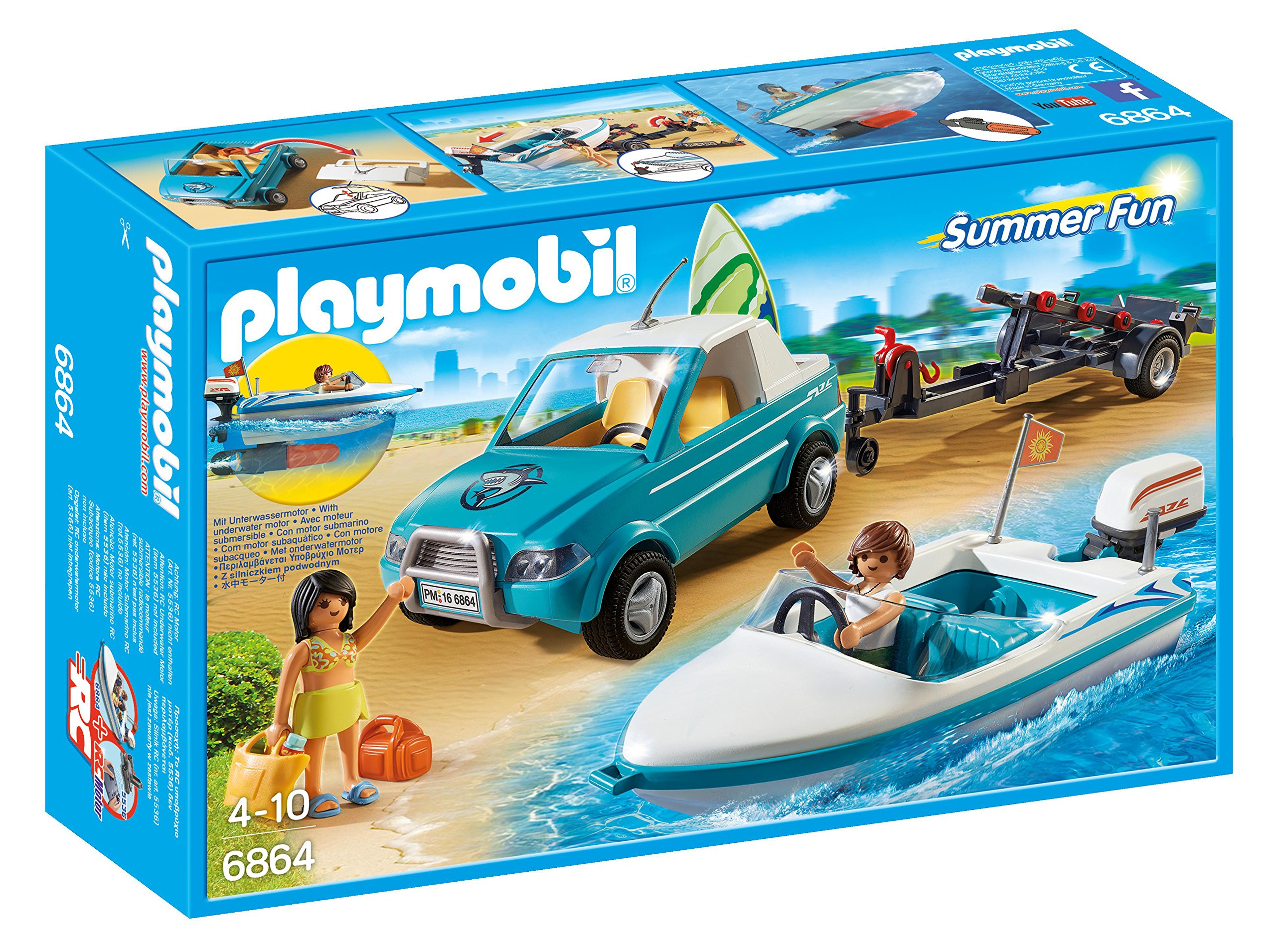 PLAYMOBIL® Surfer Pickup with Speedboat by PLAYMOBIL®
