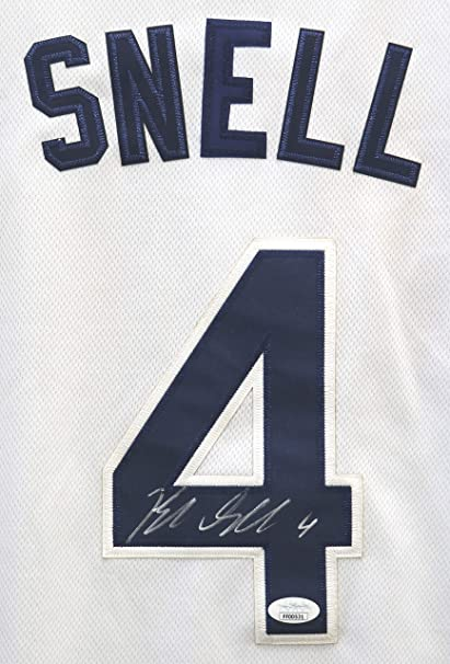 save off abaee 686e0 Blake Snell Tampa Bay Rays Signed Autographed White #4 ...