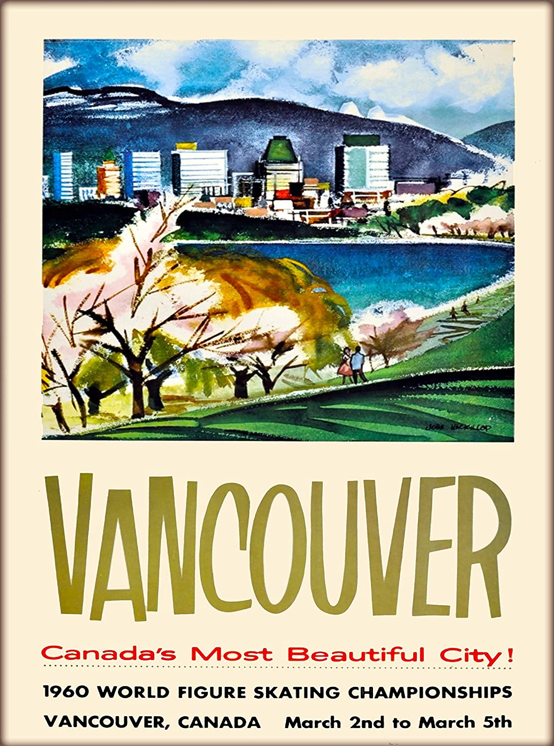 A Slice In Time Vancouver Canada S Most Beautiful City Canada Vintage Canadian Travel Advertisement Art Poster Print Measures 10 X 13 5 Inches Posters Prints
